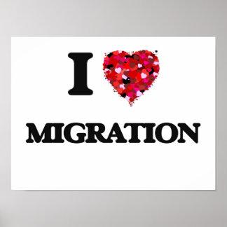 I Love Migration Poster