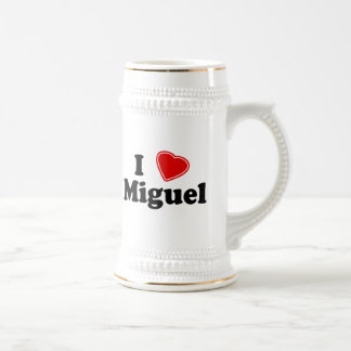 I Love Miguel Beer Stein