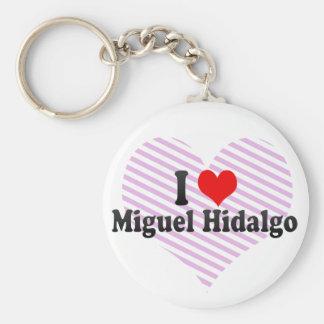 I Love Miguel Hidalgo, Mexico Basic Round Button Keychain
