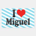 I love Miguel Rectangular Sticker