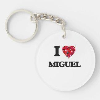 I Love Miguel Single-Sided Round Acrylic Keychain