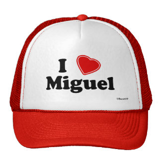 I Love Miguel Trucker Hat