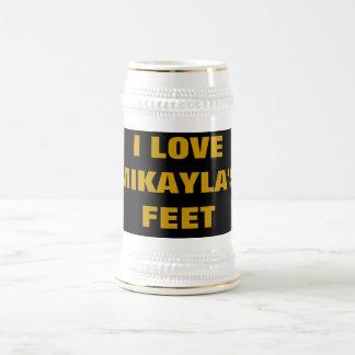 I LOVE MIKAYLA S FEET MUGS