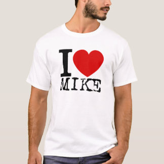 I Love Mike (Black) T-Shirt
