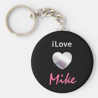 I Love Mike Key Chain