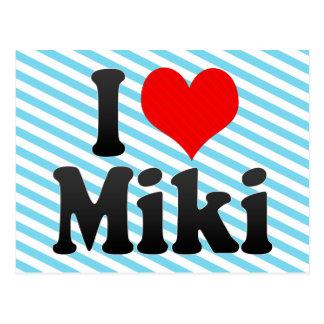 I Love Miki, Japan Postcard