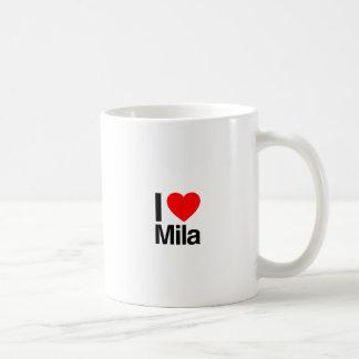 i love mila coffee mug