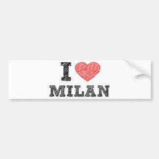 I Love Milan Car Bumper Sticker