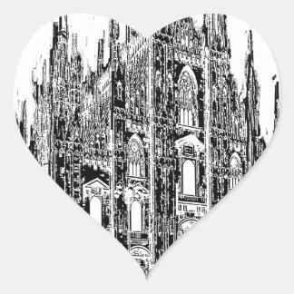 I love Milan Heart Sticker