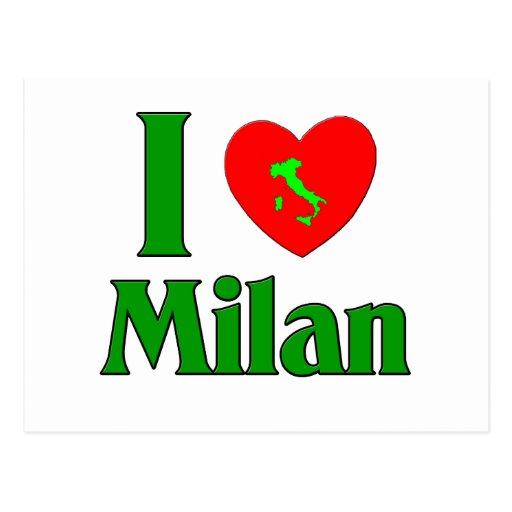 I Love Milan Italy Postcard