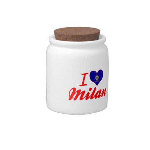 I Love Milan, Kansas Candy Dishes