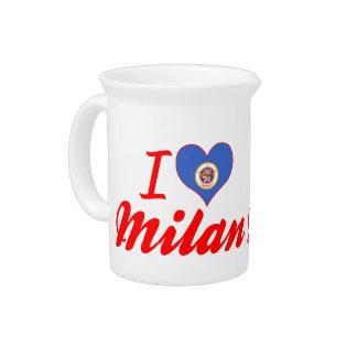 I Love Milan Minnesota Drink Pitcher