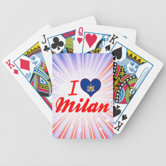 I Love Milan, New York Playing Cards