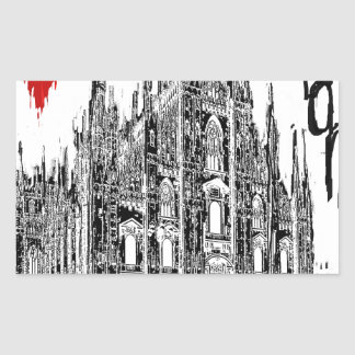 I love Milan Rectangular Sticker