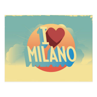 I love Milano Postcard