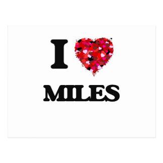 I Love Miles Postcard