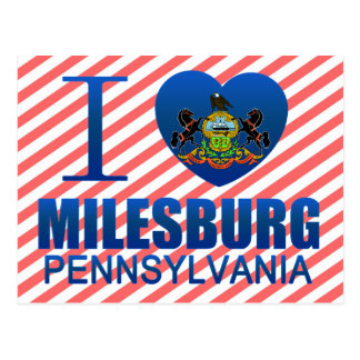 I Love Milesburg, PA Postcard