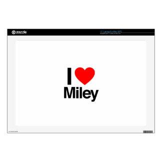 """i love miley 17"""" laptop skins"""