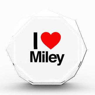 i love miley acrylic award