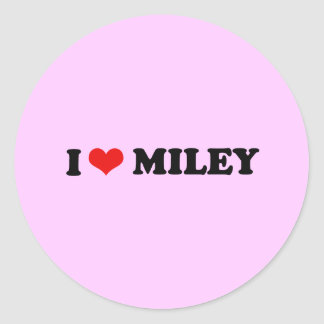 I LOVE MILEY I HEART MILEY STICKERS