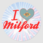 I Love Milford, Delaware Sticker