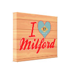 I Love Milford, Delaware Stretched Canvas Print
