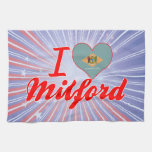 I Love Milford, Delaware Towel
