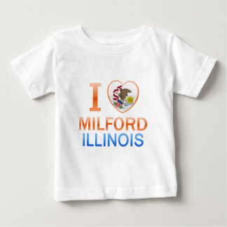 I Love Milford, IL Tee Shirt
