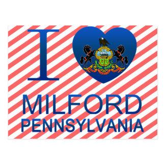 I Love Milford, PA Postcard