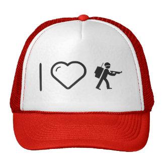 I Love Militar Army Trucker Hat