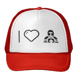 I Love Militar Armys Trucker Hat