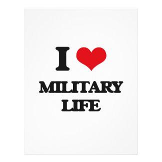 I Love Military Life Flyer