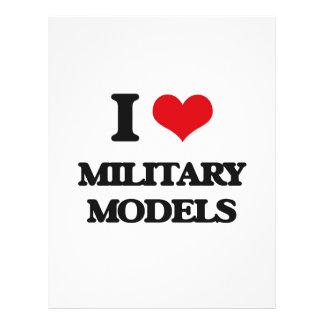 I Love Military Models Flyer Design