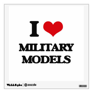 I Love Military Models Room Decal