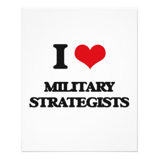 I love Military Strategists Full Color Flyer