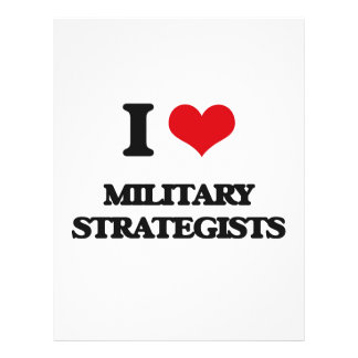 I love Military Strategists Flyer