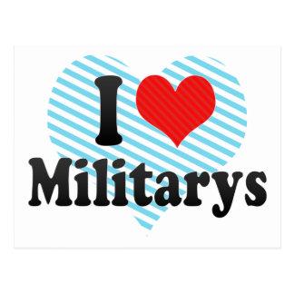 I Love Militarys Postcard