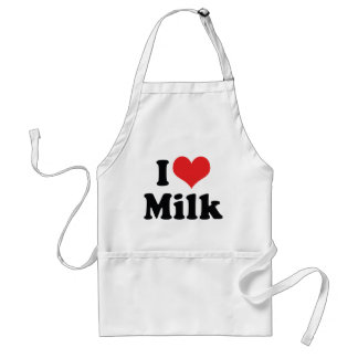 I Love Milk Adult Apron