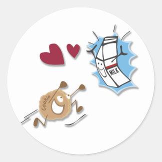 I love milk and cookies! classic round sticker