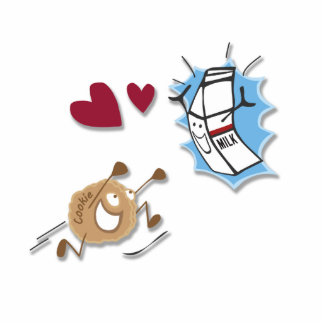 I love milk and cookies! cutout