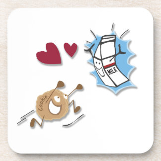 I love milk and cookies! drink coaster