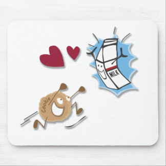 I love milk and cookies! mouse pad
