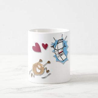 I love milk and cookies! classic white coffee mug