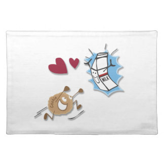 I love milk and cookies! placemat
