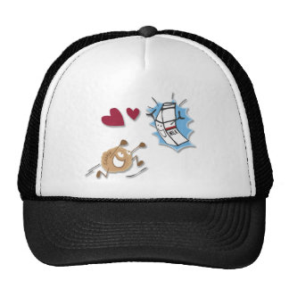 I love milk and cookies! trucker hat