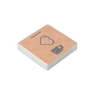 I Love Milk Cartons Stone Magnet