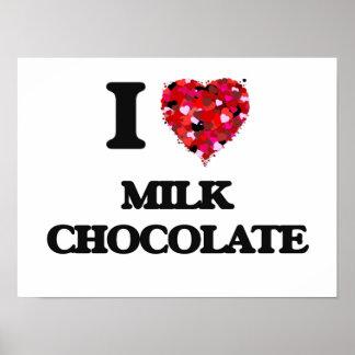 I Love Milk Chocolate Poster