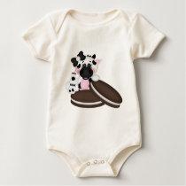 I Love Milk Cow Baby Bodysuit