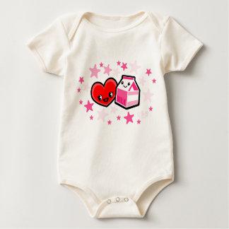 I LOVE MILK for girls Baby Bodysuit