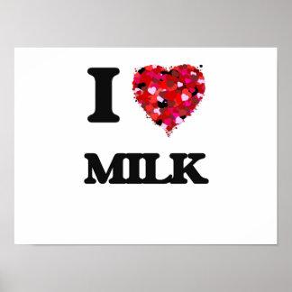 I Love Milk Poster
